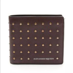 ALEXANDER MCQUEEN Studded Bifold leather wallet